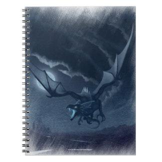 Dragão Alado Spiral Notebook