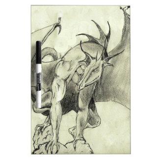 Dragaon - Pencil Sketch Dry-Erase Whiteboard