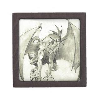Dragaon - Pencil Sketch Jewelry Box