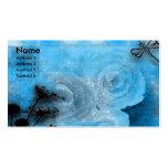 dragfly azules tarjetas de visita