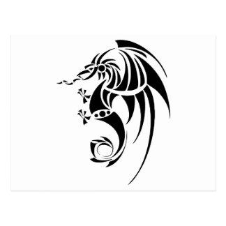 Dragissous V1 - black dragon Postcard