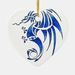 Dragissous V1 - blue dragon Ceramic Ornament