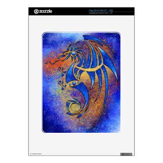 Dragissous V1 - blue dragon Decal For iPad