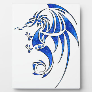 Dragissous V1 - blue dragon Plaque
