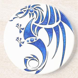 Dragissous V1 - blue dragon Sandstone Coaster