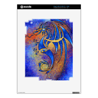 Dragissous V1 - blue dragon Skin For iPad 2