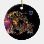 DRAGO  Blue Sapphire Monogram Christmas Ornament
