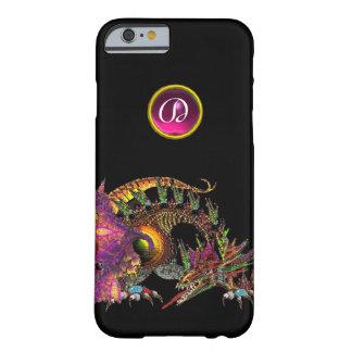 DRAGO,FANTASY DRAGON,PINK PURPLE GEMSTONE MONOGRAM BARELY THERE iPhone 6 CASE