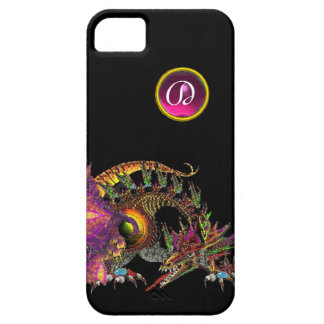 DRAGO,FANTASY DRAGON,PINK PURPLE GEMSTONE MONOGRAM iPhone SE/5/5s CASE