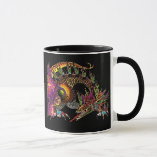 DRAGO / FANTASY GOLD DRAGON IN PURPLE AND BLACK MUG