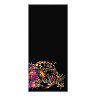 DRAGO / FANTASY GOLD DRAGON IN PURPLE AND BLACK RACK CARD