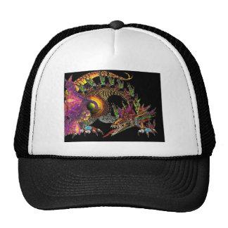 DRAGO / FANTASY GOLD DRAGON IN PURPLE AND BLACK TRUCKER HAT