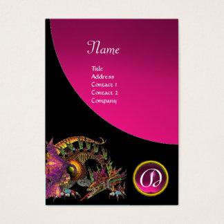 DRAGO GEM STONE MONOGRAM black pink amethyst Business Card