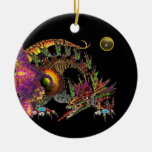 DRAGO Grey Agate Monogram Christmas Tree Ornament