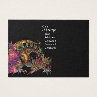 DRAGO, Monogram ,black  purple Business Card