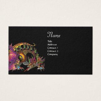 DRAGO Monogram ,black purple Business Card