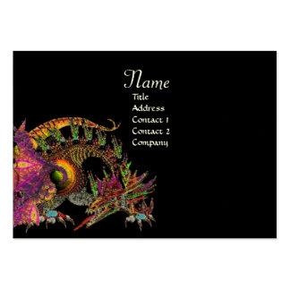 DRAGO, Monogram ,black  purple Large Business Card