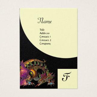 DRAGO, Monogram black purple platinum metallic Business Card