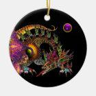 DRAGO Purple Amethyst Monogram Ceramic Ornament