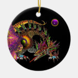 DRAGO Purple Amethyst Monogram Christmas Tree Ornament