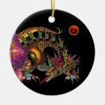 DRAGO Red Ruby Monogram Christmas Tree Ornaments