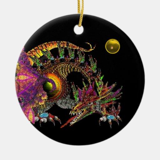 DRAGO Yellow Topaz Monogram Christmas Ornaments