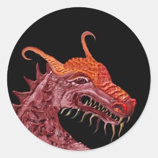Dragon1 Pegatina Redonda