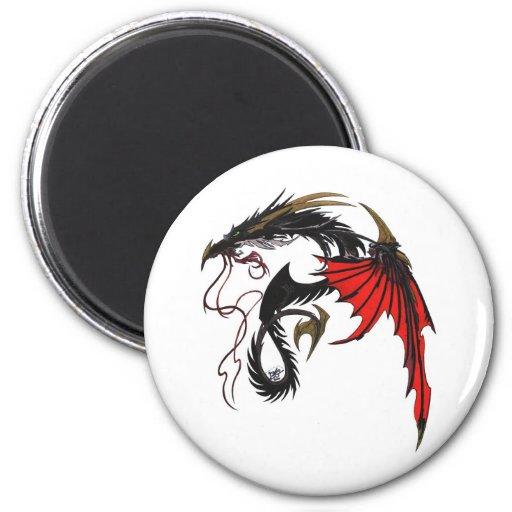 dragon51-color imán redondo 5 cm
