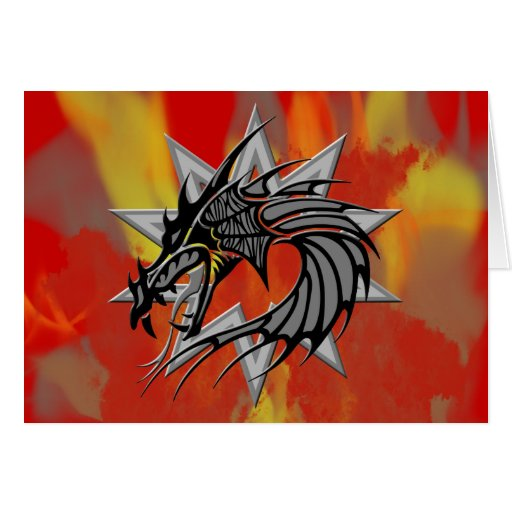 Dragón 17 tarjeta de felicitación