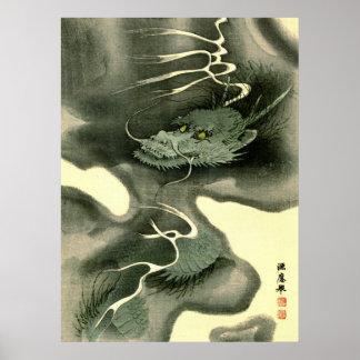 Dragón 1895 del humo póster