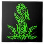 Dragon 19 green oil tiles