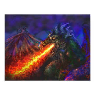 Dragon #1 4.25x5.5 paper invitation card