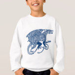 Dragon 1 Knotwork Blue.jpg Sweatshirt
