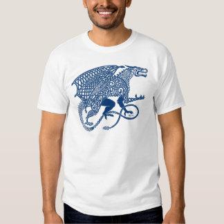 Dragon 1 Knotwork Blue.jpg T-Shirt