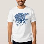 Dragon 1 Knotwork Blue.jpg T-shirts