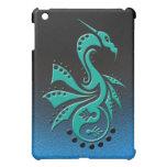 Dragon 1 Yin Yang cyan/aqua iPad Mini Covers