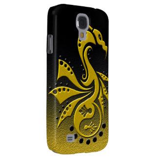 Dragon 1 Yin Yang gold Samsung Galaxy S4 Covers