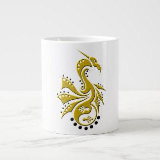 Dragon 1 Yin Yang gold 20 Oz Large Ceramic Coffee Mug