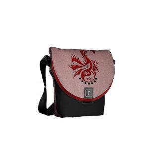 Dragon 1 Yin Yang red Courier Bag