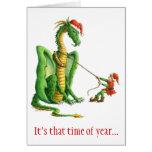 Dragón 2012 del navidad - tarjeta
