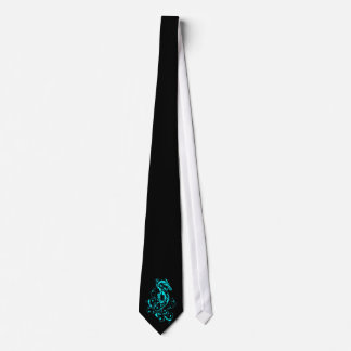 Dragon 20 cyan neck tie