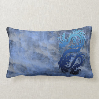 Dragon 23 blue throw pillows