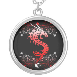 Dragon 29 silver plated necklace