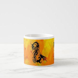 Dragon 2 black 6 oz ceramic espresso cup