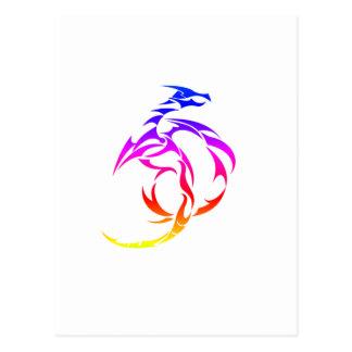 Dragón 2 del arco iris postal