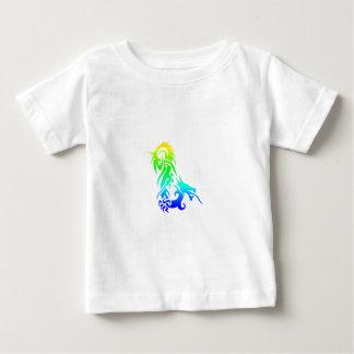 Dragón 3 del arco iris camisas