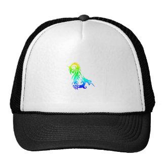 Dragón 3 del arco iris gorras de camionero