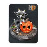 """Dragón 3"""" del MD Halloween x 4"""" imán de la foto"""