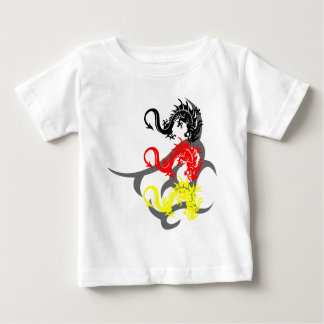 Dragon 4 colored with Tribal Baby T-Shirt