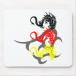 Dragon 4 colored with Tribal Mousepads